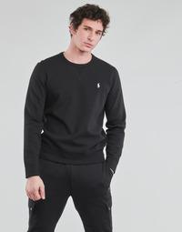 Odjeća Muškarci  Sportske majice Polo Ralph Lauren SWEATSHIRT COL ROND EN JOGGING DOUBLE KNIT TECH LOGO PONY PLAYER Crna