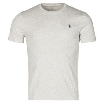 Odjeća Muškarci  Majice kratkih rukava Polo Ralph Lauren T-SHIRT AJUSTE COL ROND EN COTON LOGO PONY PLAYER Siva