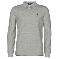 Odjeća Muškarci  Polo majice dugih rukava Polo Ralph Lauren POLO AJUSTE DROIT EN COTON BASIC MESH LOGO PONY PLAYER Siva / Canterbury