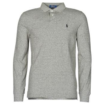 Odjeća Muškarci  Polo majice dugih rukava Polo Ralph Lauren POLO AJUSTE DROIT EN COTON BASIC MESH LOGO PONY PLAYER Siva