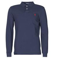 Odjeća Muškarci  Polo majice dugih rukava Polo Ralph Lauren POLO AJUSTE DROIT EN COTON BASIC MESH LOGO PONY PLAYER Blue