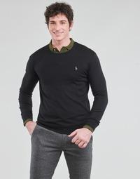 Odjeća Muškarci  Puloveri Polo Ralph Lauren PULL COL ROND AJUSTE EN COTON PIMA LOGO PONY PLAYER Crna