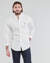 Odjeća Muškarci  Košulje dugih rukava Polo Ralph Lauren CHEMISE CINTREE SLIM FIT EN OXFORD LEGER TYPE CHINO COL BOUTONNE Bijela