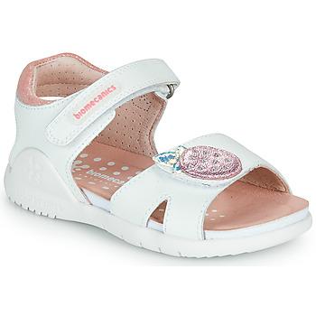 Obuća Djevojčica Sandale i polusandale Biomecanics 212163 Bijela / Ružičasta