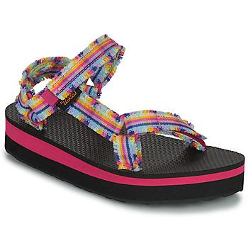 Obuća Djevojčica Sandale i polusandale Teva C MIDFORM FRAY Ružičasta / Multicolour