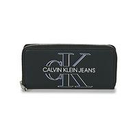 Torbe Žene  Novčanici Calvin Klein Jeans ZIP AROUND GLOW Crna