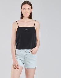 Odjeća Žene  Topovi i bluze Calvin Klein Jeans MONOGRAM CAMI TOP Crna