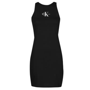 Odjeća Žene  Kratke haljine Calvin Klein Jeans MONOGRAM TANK DRESS Crna
