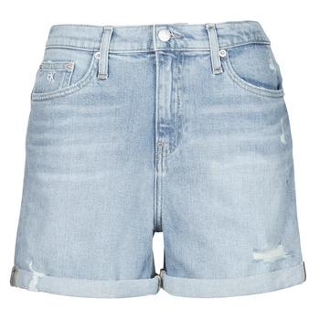 Odjeća Žene  Bermude i kratke hlače Calvin Klein Jeans MOM SHORT Blue / Svijetla
