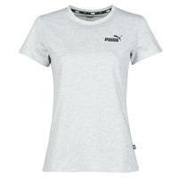 Odjeća Žene  Majice kratkih rukava Puma ESS LOGO TEE Siva / Raznobojno tkanje