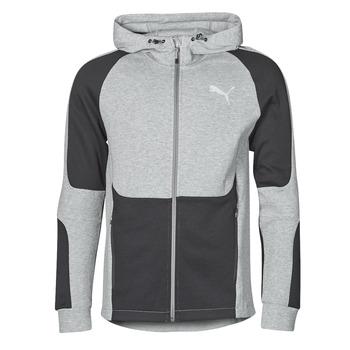 Odjeća Muškarci  Sportske majice Puma EVOSTRIPE FZ HOODY Siva / Crna