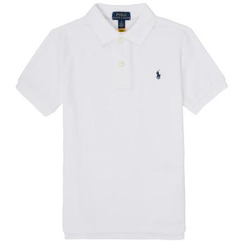 Odjeća Dječak  Polo majice kratkih rukava Polo Ralph Lauren MENCHI Bijela