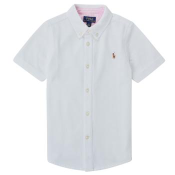 Odjeća Dječak  Košulje kratkih rukava Polo Ralph Lauren CAMISSA Bijela