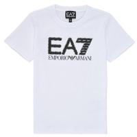Odjeća Dječak  Majice kratkih rukava Emporio Armani EA7 3KBT53-BJ02Z-1100 Bijela