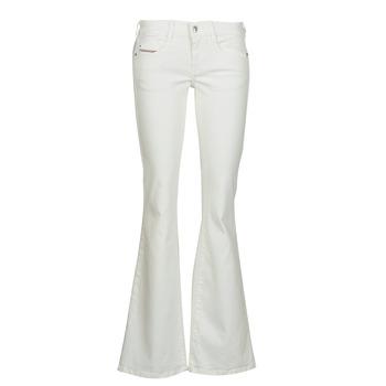 Odjeća Žene  Bootcut traperice Diesel D-EBBEY Bijela
