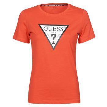Odjeća Žene  Majice kratkih rukava Guess SS CN ORIGINAL TEE Red