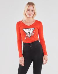 Odjeća Žene  Majice dugih rukava Guess LS VN ICON TEE Red