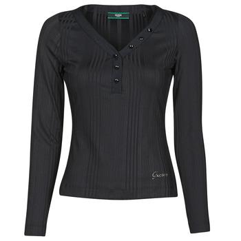 Odjeća Žene  Majice dugih rukava Guess LS URSULA TOP Crna
