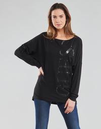 Odjeća Žene  Majice dugih rukava Guess LS KAROLINA TEE Crna