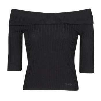 Odjeća Žene  Majice dugih rukava Guess DAYNA OFF SHOULDER SWTR Crna