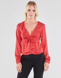 Odjeća Žene  Topovi i bluze Guess NEW LS GWEN TOP Red / Bijela