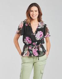 Odjeća Žene  Topovi i bluze Guess SS NEREA TOP Crna / Multicolour