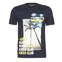 Odjeća Muškarci  Majice kratkih rukava Guess GUESS CLUB CN SS TEE Blue