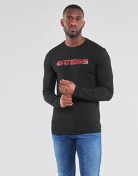 Odjeća Muškarci  Majice dugih rukava Guess GUESS PROMO CN LS TEE Crna