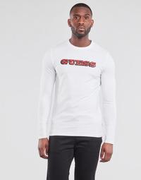 Odjeća Muškarci  Majice dugih rukava Guess GUESS PROMO CN LS TEE Bijela