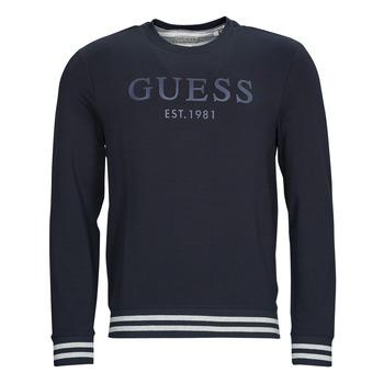 Odjeća Muškarci  Sportske majice Guess BEAU CN FLEECE Crna