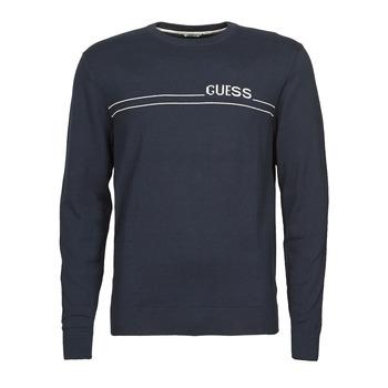 Odjeća Muškarci  Puloveri Guess LS CN LOGO 12 GG Blue