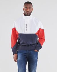 Odjeća Muškarci  Kratke jakne Tommy Jeans TJM LIGHTWEIGHT POPOVER JACKET Bijela / Red