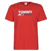 Odjeća Muškarci  Majice kratkih rukava Tommy Jeans TJM CORP LOGO TEE Red