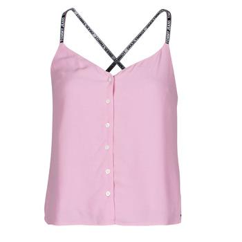 Odjeća Žene  Topovi i bluze Tommy Jeans TJW CAMI TOP BUTTON THRU Ružičasta