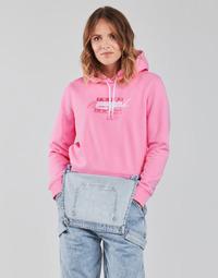 Odjeća Žene  Sportske majice Tommy Jeans TJW CROPPED TOMMY FLAG HOODIE Ružičasta