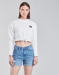 Odjeća Žene  Sportske majice Tommy Jeans TJW SUPER CROPPED BADGE CREW Bijela