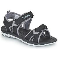 Obuća Djeca Sportske sandale Hummel SANDAL SPORT JR Crna