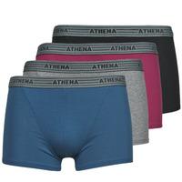 Donje rublje Muškarci  Bokserice Athena BASIC COTON  X4 Siva / Bordo / Blue / Crna