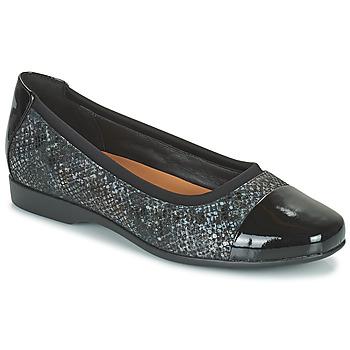 Obuća Žene  Balerinke i Mary Jane cipele Clarks UN DARCEY CAP2 Crna