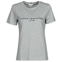 Odjeća Žene  Majice kratkih rukava Tommy Hilfiger TH ESS HILFIGER C-NK REG TEE SS Siva