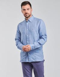 Odjeća Muškarci  Košulje dugih rukava Tommy Hilfiger PIGMENT DYED LINEN SHIRT Blue