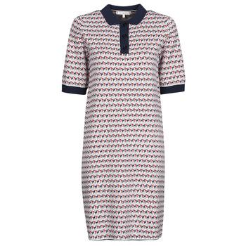 Odjeća Žene  Kratke haljine Tommy Hilfiger TH CUBE SHIFT SHORT DRESS SS Bijela / Red