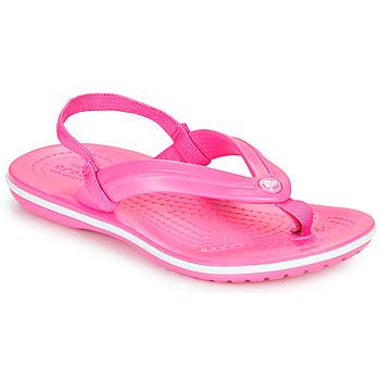 Obuća Djevojčica Japanke Crocs CROCBAND STRAP FLIP K Ružičasta