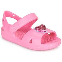 Obuća Djevojčica Sandale i polusandale Crocs CLASSICCROSSSTRAPCHARMSANDAL T Ružičasta