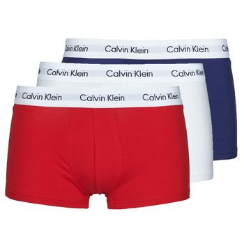 Donje rublje Muškarci  Bokserice Calvin Klein Jeans RISE TRUNK X3 Bijela / Red