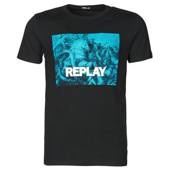 Odjeća Muškarci  Majice kratkih rukava Replay M3412-2660 Crna / Blue
