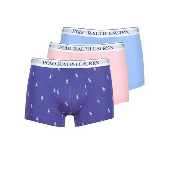 Donje rublje Muškarci  Bokserice Polo Ralph Lauren CLASSIC TRUNK X3 Ružičasta / Blue