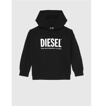 Odjeća Djeca Sportske majice Diesel SDIVISION LOGO Crna