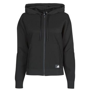 Odjeća Žene  Sportske majice adidas Performance W Knit V Hoodie Crna
