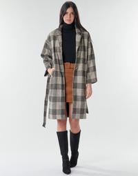 Odjeća Žene  Kaputi Betty London NIOULOOK Crna / Bež